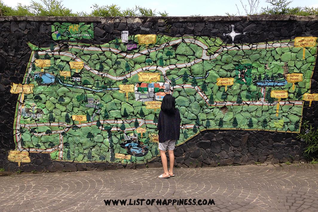 peta villa istana bunga