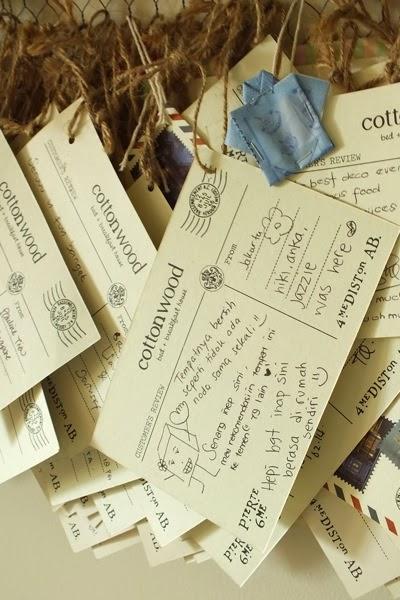 Postcard isi komentar pengunjung